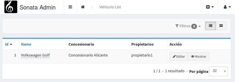 Listado vehículos conesioario Sonata
